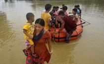 인도 북동부 홍수 긴급구호